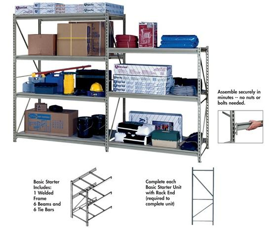 HEAVY-DUTY Z-BEAM STORAGE RACK - BASIC STARTER UNIT