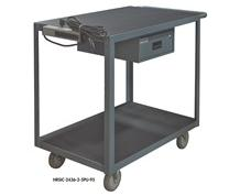 2 SHELF INSTRUMENT CART WITH DRAWER & ELECTRICAL STRIP